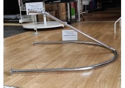 Примерочная пристенная с боковым усилителем  110х90см. с фланцами