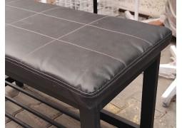 Пуфик-банкетка двойной в лофт-стиле  (черно-серый)