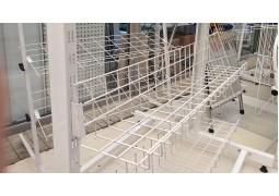 Полка-корзина с бортом 900х175х35, d4мм. для установки в рейку