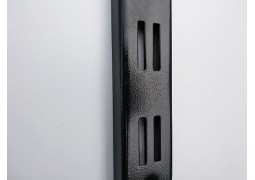 Рейка-профиль двухрядная, чорная, 2000х35х12 (стенка 1мм)