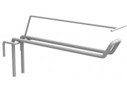 Крючок на сетку L150 двойной с ценникодержателем