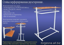 Стійка перфорована двостороння (комплект 1) довжина: 0,9м, 1м, 1,2м