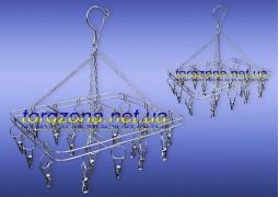 Вертушка підвісна (квадратна) на 20 прищіпок