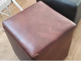 Пуфик-банкетка для примерки обуви (коричневый черный куб)