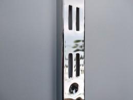 Рейка-профиль двухрядная, хромированная, 2000х35х12 (стенка1мм)