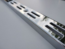 Рейка-профиль двухрядная, хромированная, 2000х35х12 (стенка 2мм)