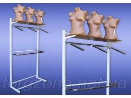 Стійка перфорована одностороння (комплект з дугою та флейтами, довжина: 0,9 м, 1 м, 1,2 м)