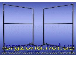 Вешалка-стойка для одежды, двойная L1.5 (черная)