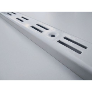 Рейка-профиль двухрядная 2000х35х12, стенка1мм, (белая)