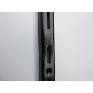 Рейка-профиль однорядная  2000х23х12 стенка 1мм, (черная)