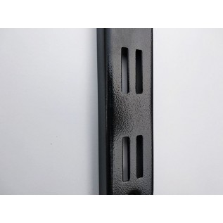 Рейка-профиль двухрядная  2000х35х12 ,стенка 1мм. (черная)
