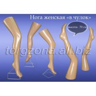 Нога жіноча у панчоху
