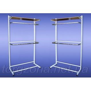 Стійка перфорована одностороння (комплект з двома дугами, довжина: 0,9 м, 1 м, 1,2 м)